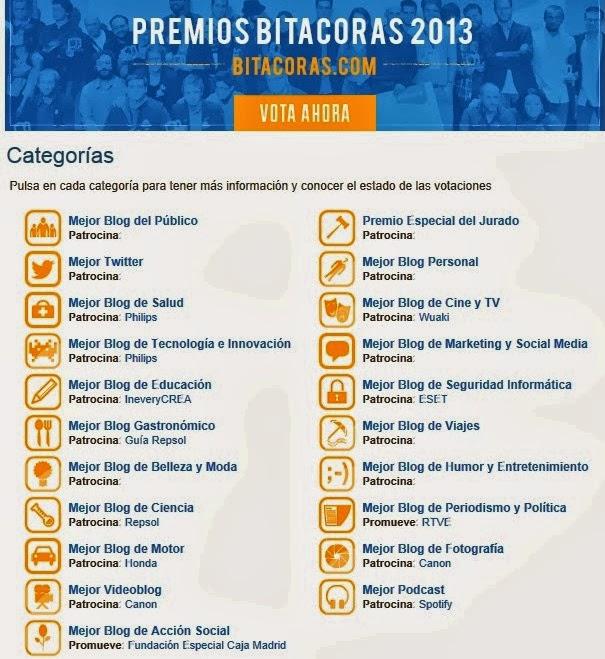 votar premios bitacoras 2013