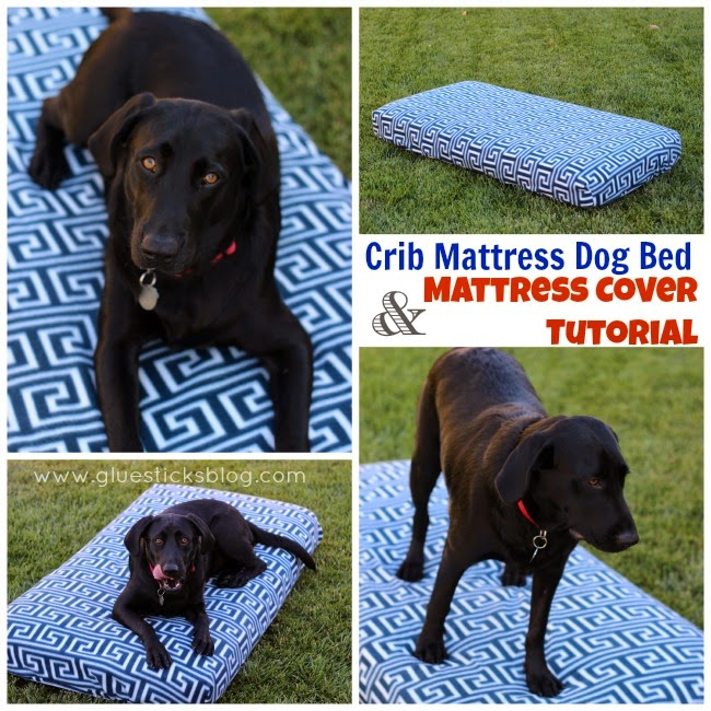 enlightenment re purposed old crib mattress into dog bed. Black Bedroom Furniture Sets. Home Design Ideas