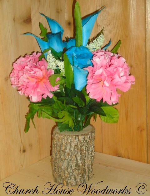 Church house collection blog rustic wedding supplies for Pink and blue flower arrangements