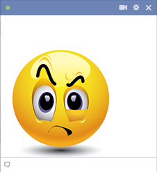 Facebook emoticon raising eyebrow