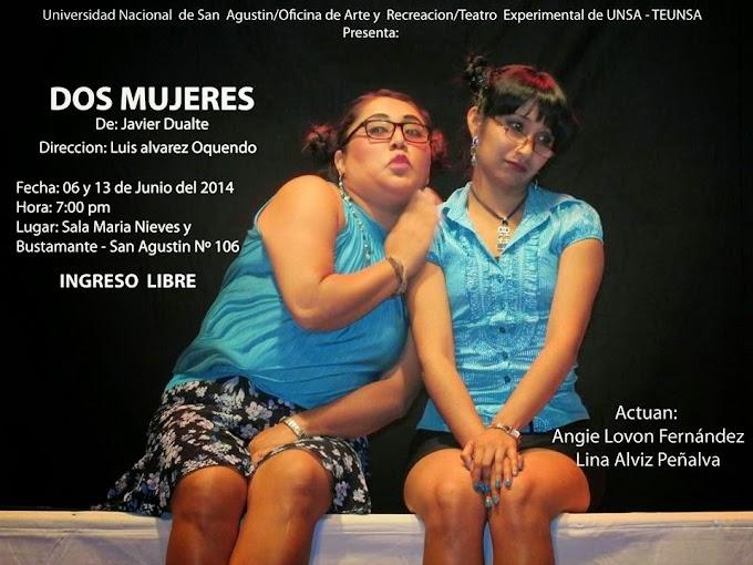 """Obra de teatro """"Dos Mujeres"""" - 06 y 13 de junio"""