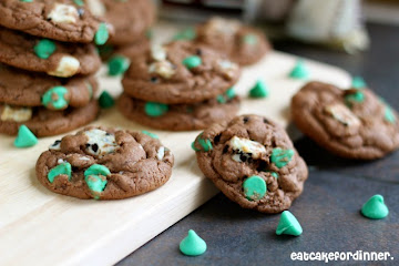 Mint Cookies 'n Cream Pudding Cookies