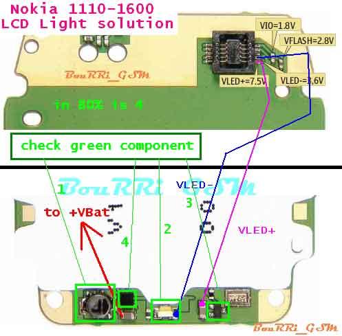 Gsm Solutions Nokia 1110 1600 Lcd Light Problem