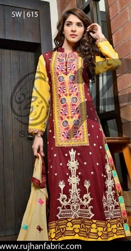 Embroidered Swiss Voil Vol-2 Designs by Rujhan