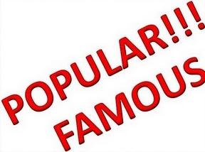 Popular, Famous, Terkenal, Glamour
