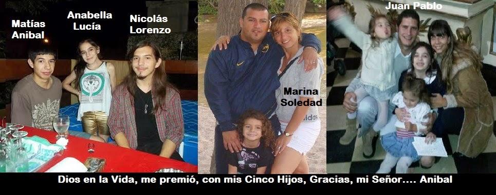 Mis Hijos... Marina, Juan Pablo, Nicolas, Matias y Anabella