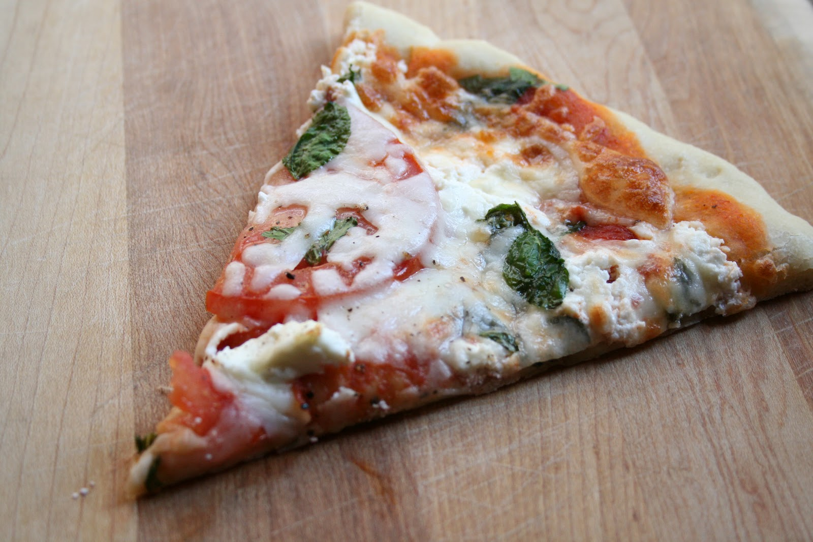 The Nesting Corral: Tomato, Basil, & Goat Cheese Pizza