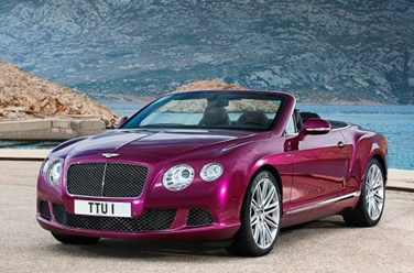 side-view of 2014 Bentley Continental GT Speed sports car convertible