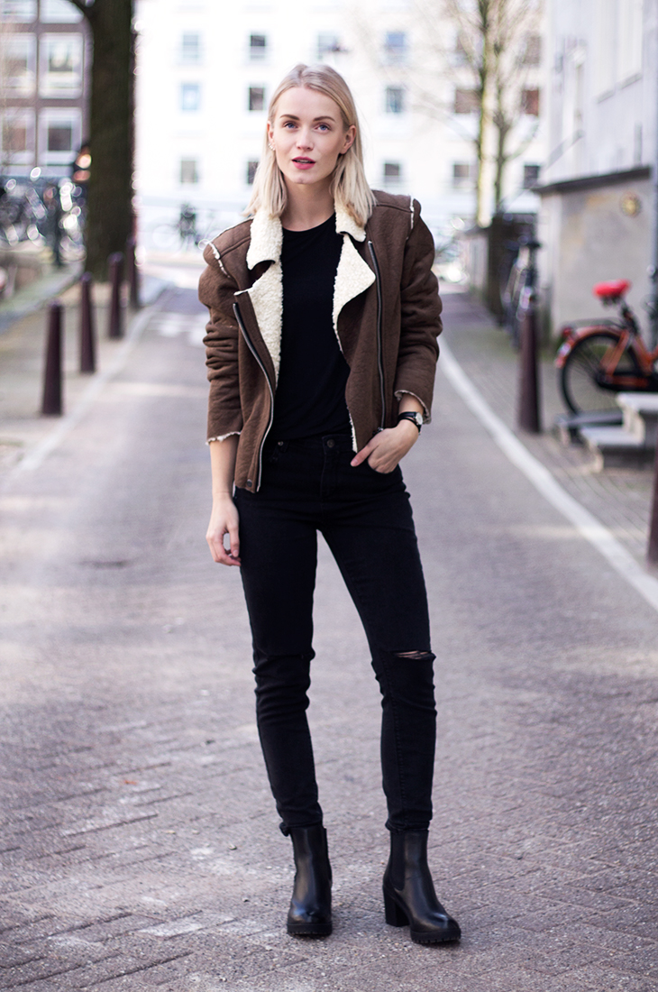 Fashion Attacks outfit ootd Subdued shearling jacket