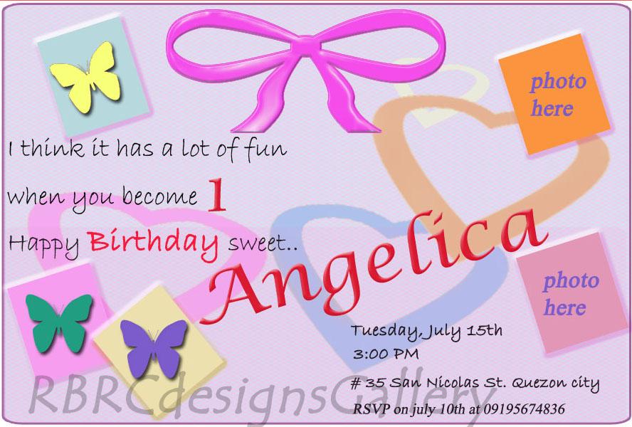 Birthday invitation card tarpaulin birthday wedding birthday invitation card stopboris Gallery