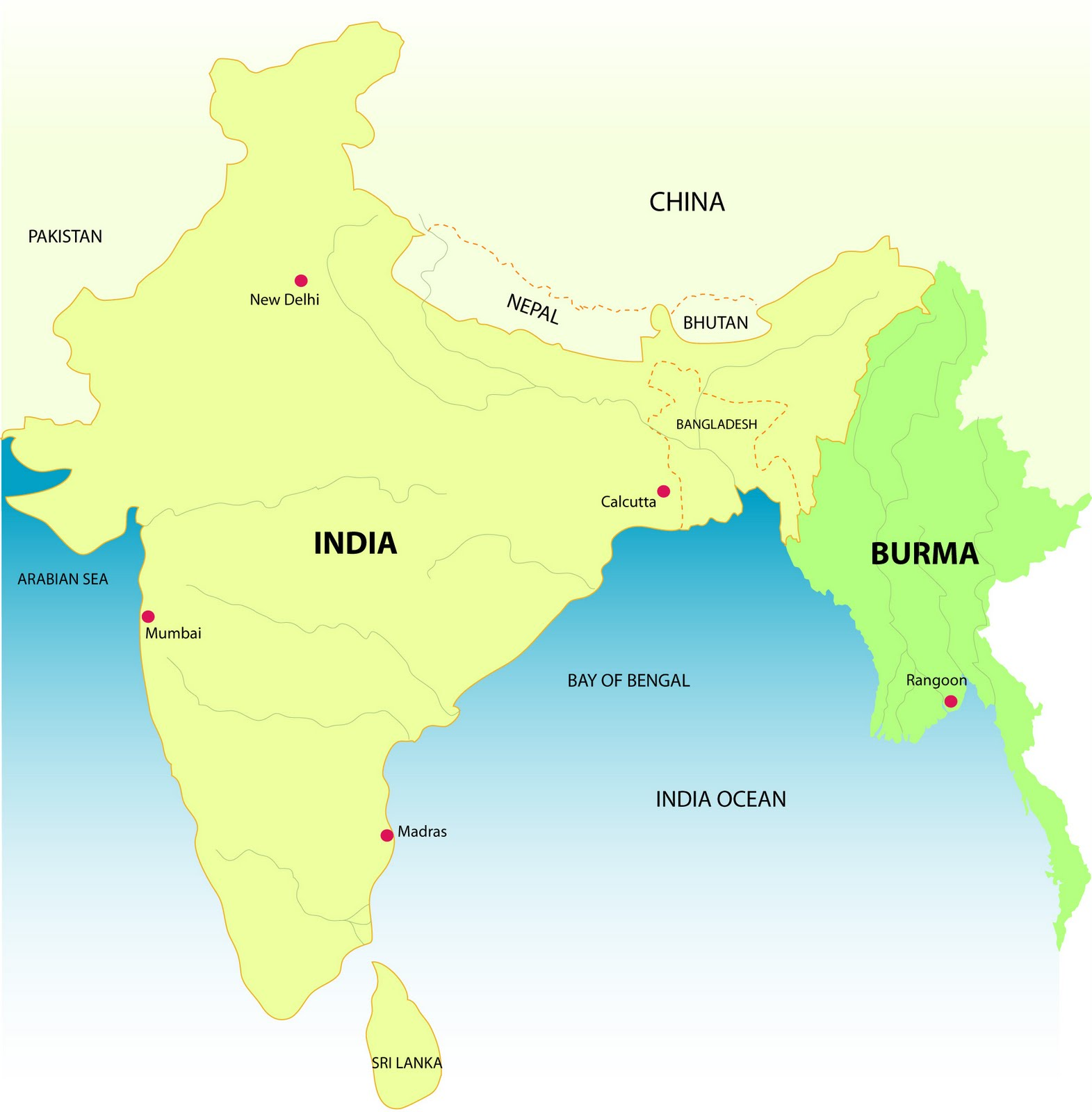 Where Is Burma In India Map - Where is myanmar
