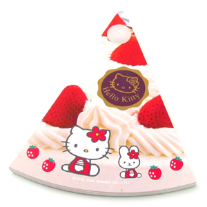 Hello Kitty slice of strawberries and cream pie notepad