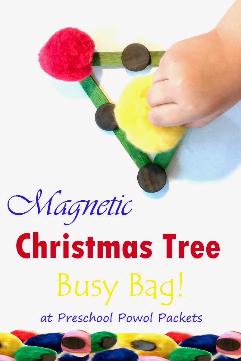 magnetic christmas tree preschool busy bag preschool powol packets