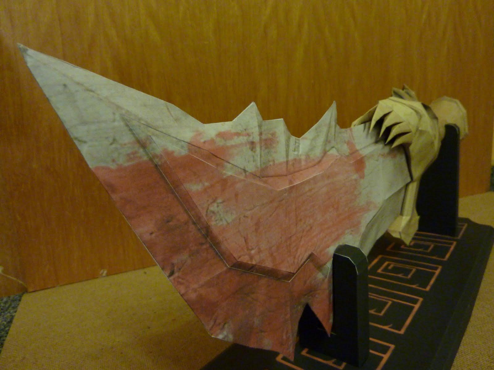 espada do kratos god of war papercraft do mal