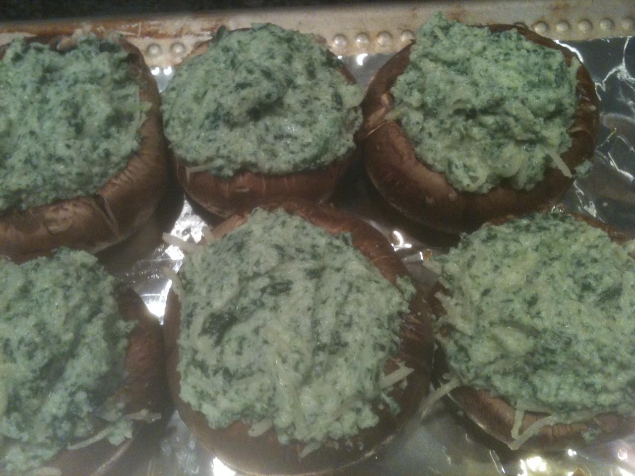 ... Cooking with Alba : Spinach and Ricotta Stuffed Portobello Mushrooms