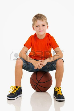 girls sitting on a basketballs nude