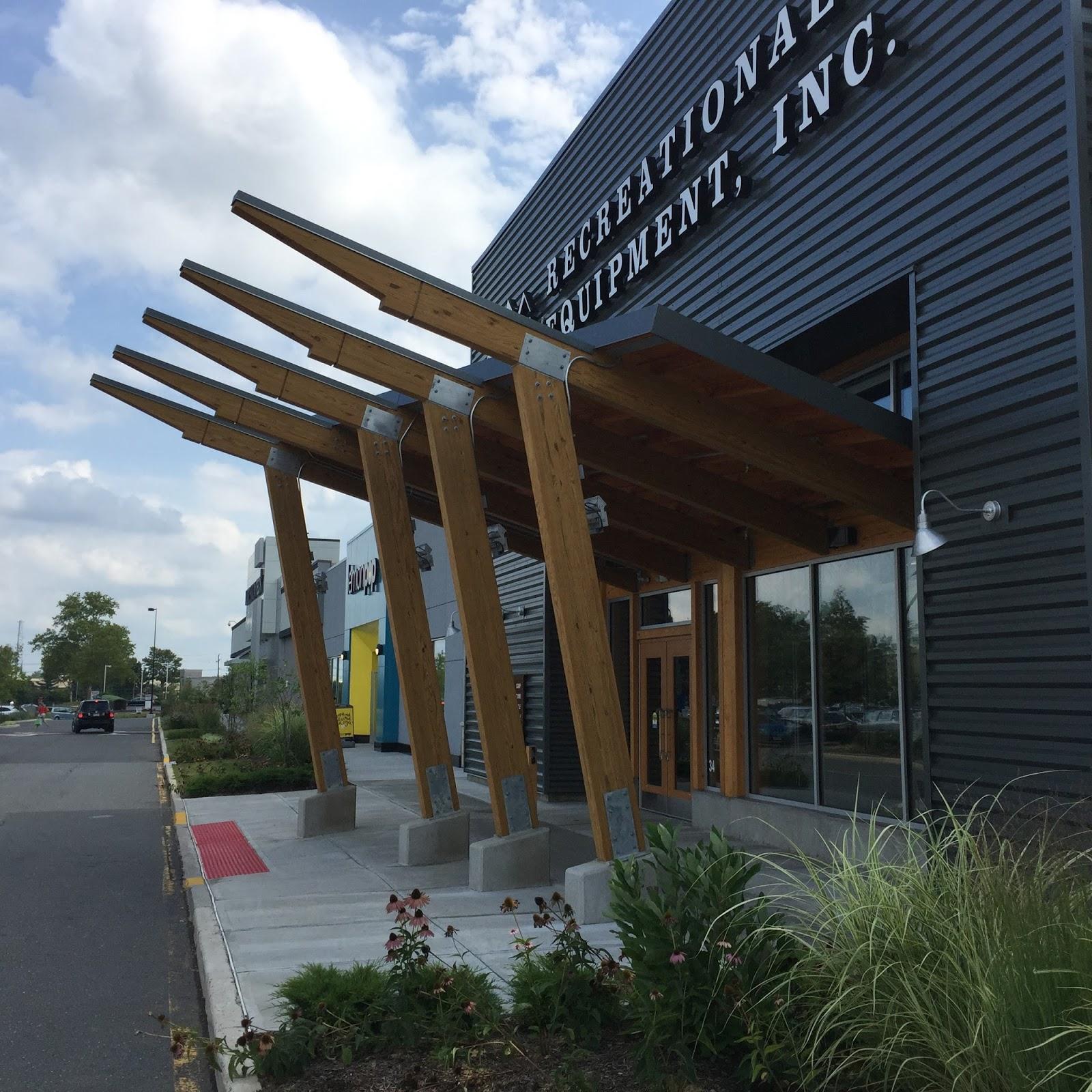 Striking Glulam Timber Entrance At REI