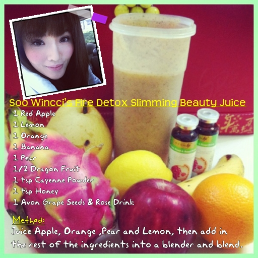 Detox Recipe: Soo Wincci's Fire Detox Slimming Beauty Juice