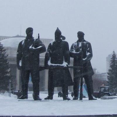 Lenin's Square in Novosibirsk, Russia