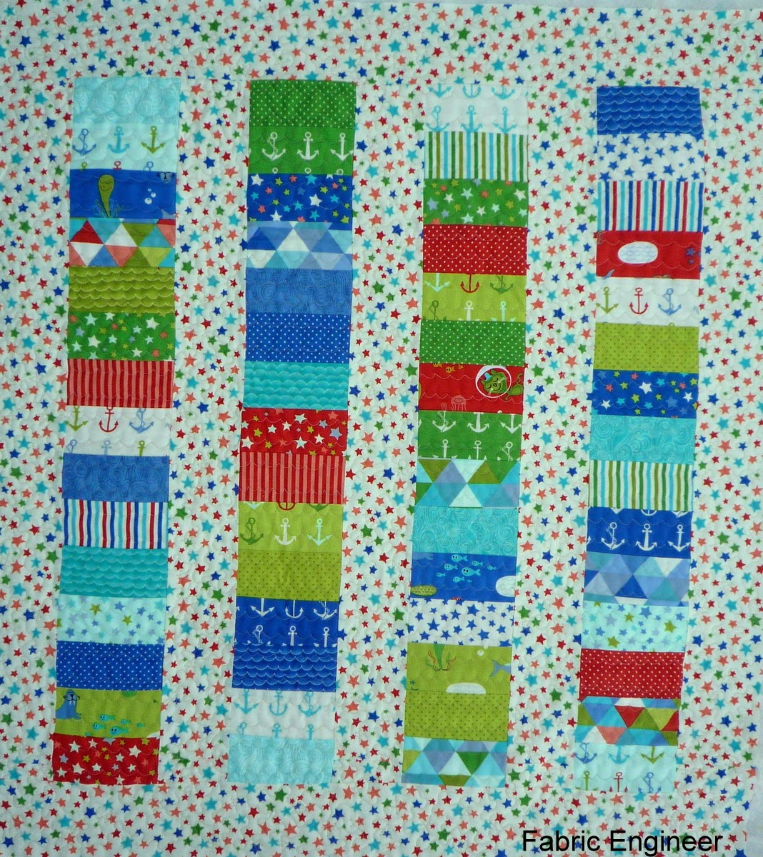 Fabric engineer baby boy quilt for Boy quilt fabric