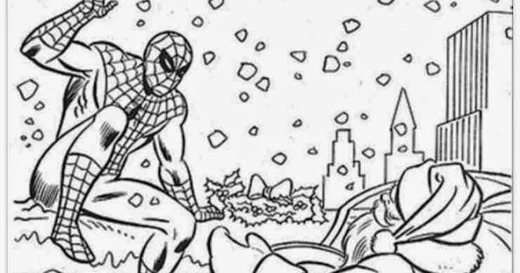 Coloriage Spiderman Noel Imprimer