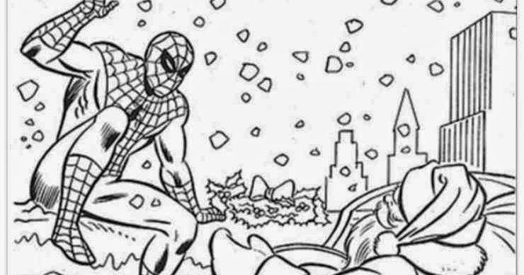 Coloriage Spiderman Noel Imprimer | Coloriage en Ligne