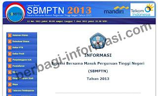 SBMPTN 2013 (Jadwal dan Cara Daftar PTN)