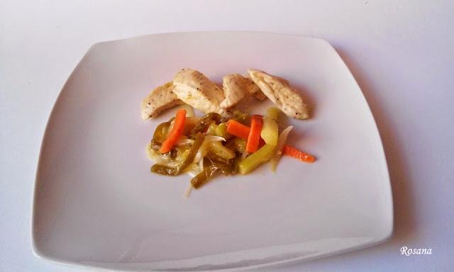 receta pechuga de pollo con verduras
