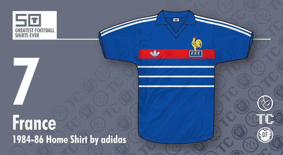 50GFSE   7 - France 1984-86 Home Shirt by adidas ~ The Football Attic 26457cb92