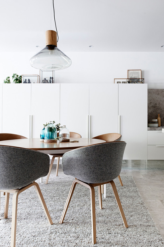 round dining table image by eve wilson via vogue living australia