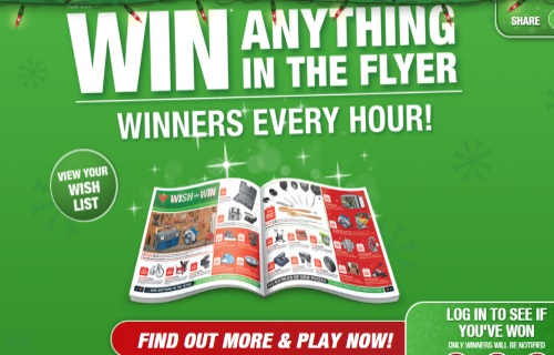 Canadian Tire Wish and Win Contest