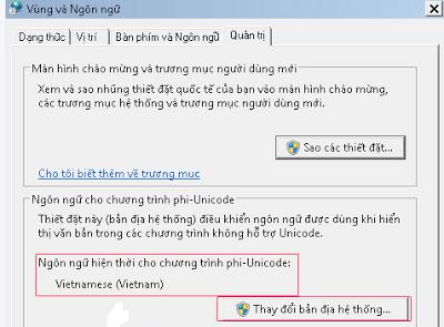 Cài đặt gói tiếng Việt trên Windows 7 và Windows 8