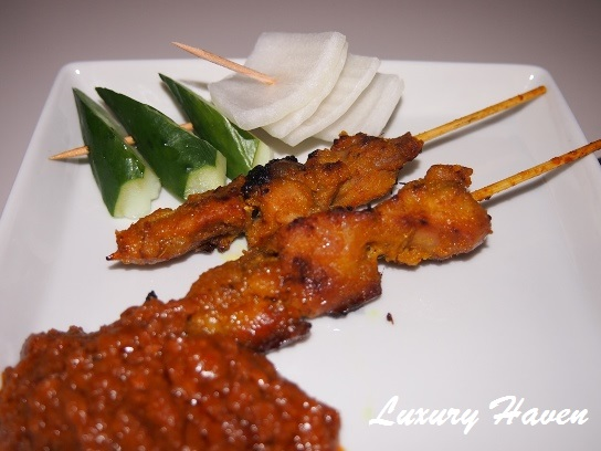 singapore airlines business class satay meal