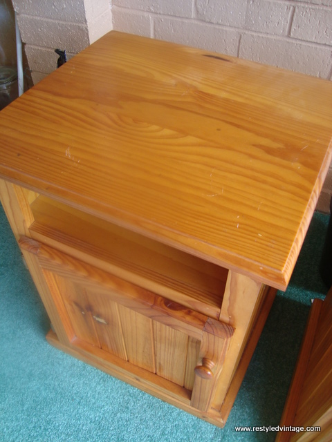 Next Up Is This Even More Yellow Than Honey Coloured Pine Pair Of Bedside  Cabinets. For Some Bizarre Reason, One The Them Is A Tiny Bit Taller Than  The ...