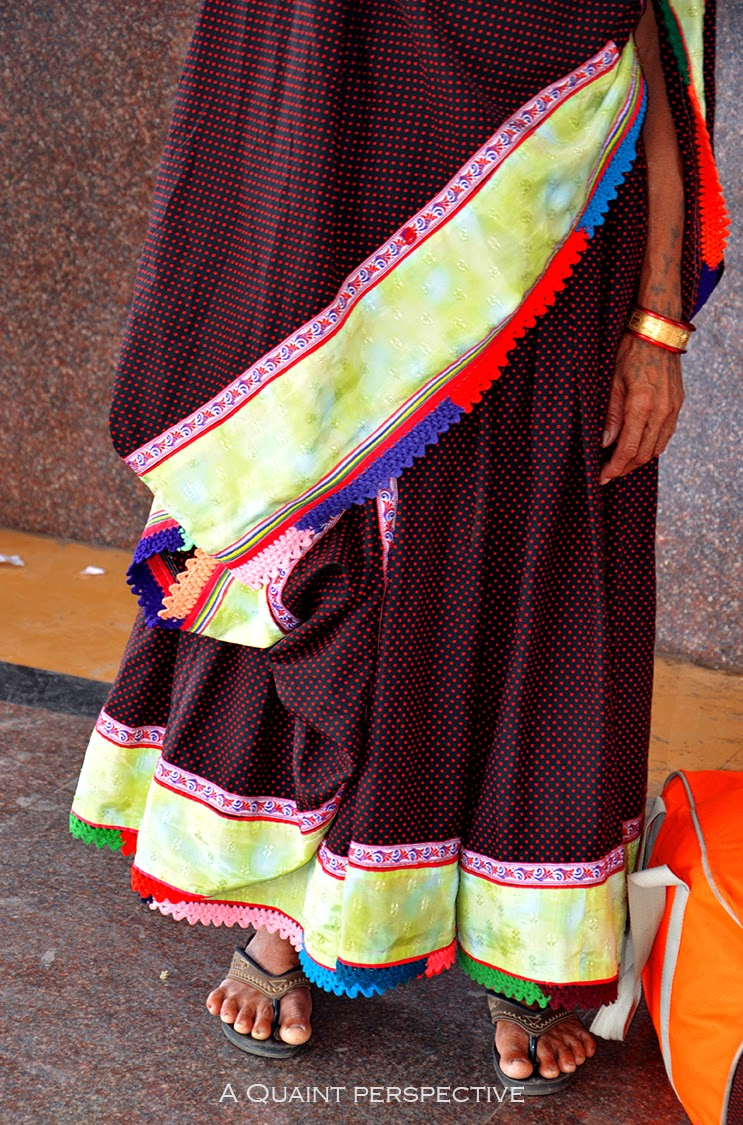Close up of the traditional attire from rajasthan/ Gujarat