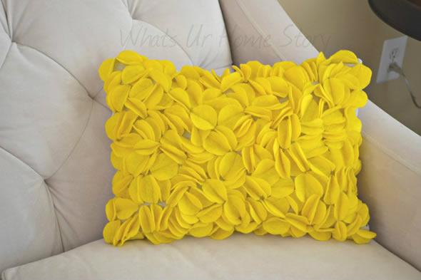 Pillow with felt appliques