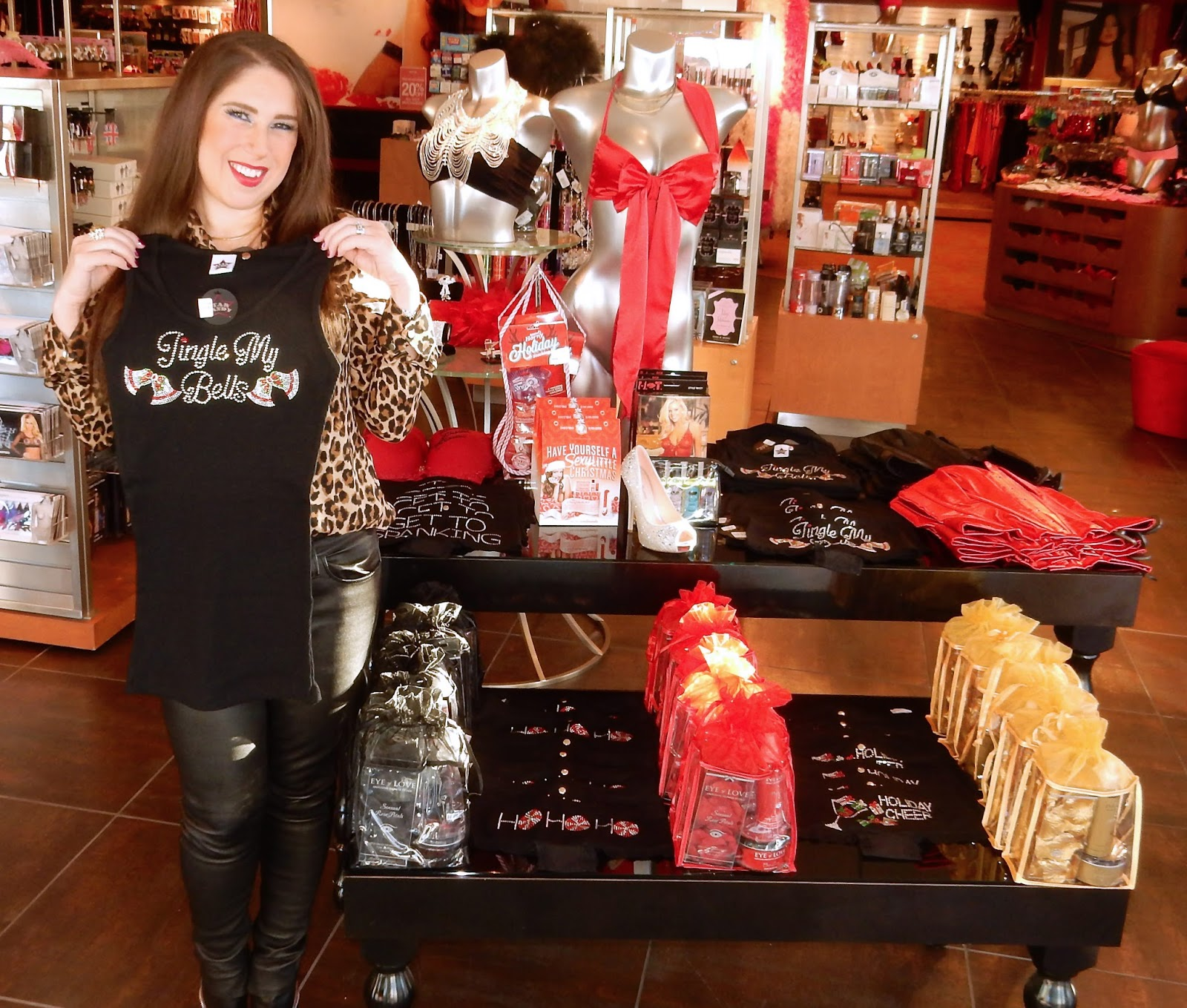 Jingle My Bells Tank from Star Candy at Hustler Hollywood Stores Marisa The High Heeled Brunette.