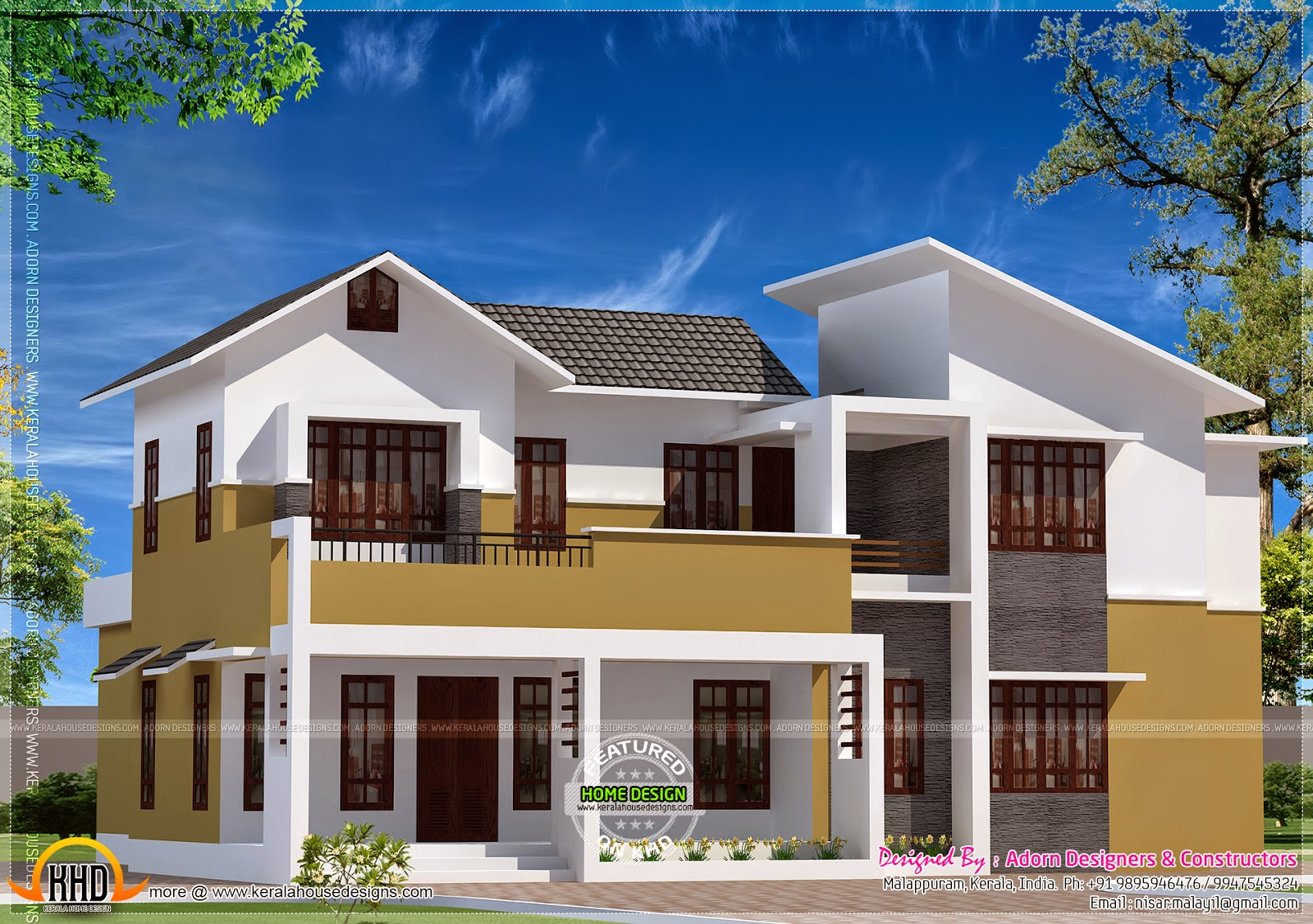 home design interior singapore: Modern mix house at Malappuram, Kerala