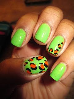 "Wet n Wild  Nerd Alert Screech, Straight ""A"" Jesse, cheetah, leopard, animal print, nail art, nail design, mani"
