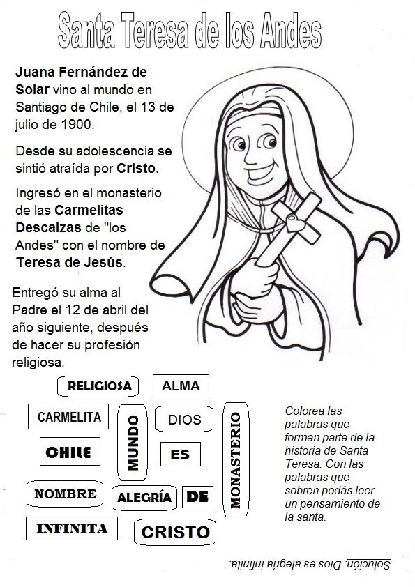 El Rincón de las Melli: Santa Teresa de los Andes (reseña y juego)