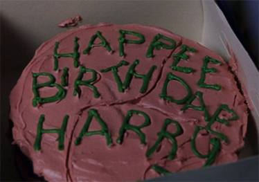 Harry Opened It With Trembling Fingers Inside Was A Large Sticky Chocolate Cake Happy Birthday Written On In Green Icing