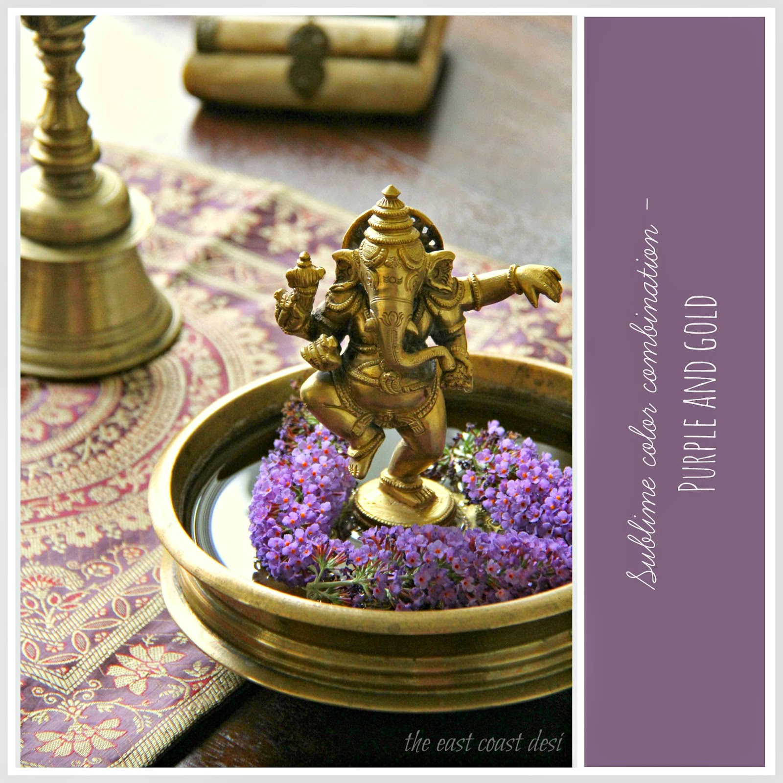 Ganesh chaturthi flowers may flower blog - Place A Brass Ganesha Statue In The Center Of A Urli And Float Seasonal Flowers To Add