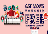 Purplle :Doy Care Soap 125g pack of 4 & Free Rs.200 Movie Voucher Rs.99