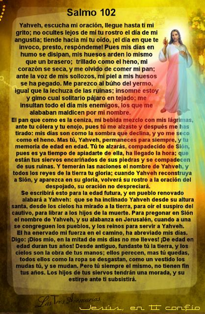oraciones de la biblia salmo 102