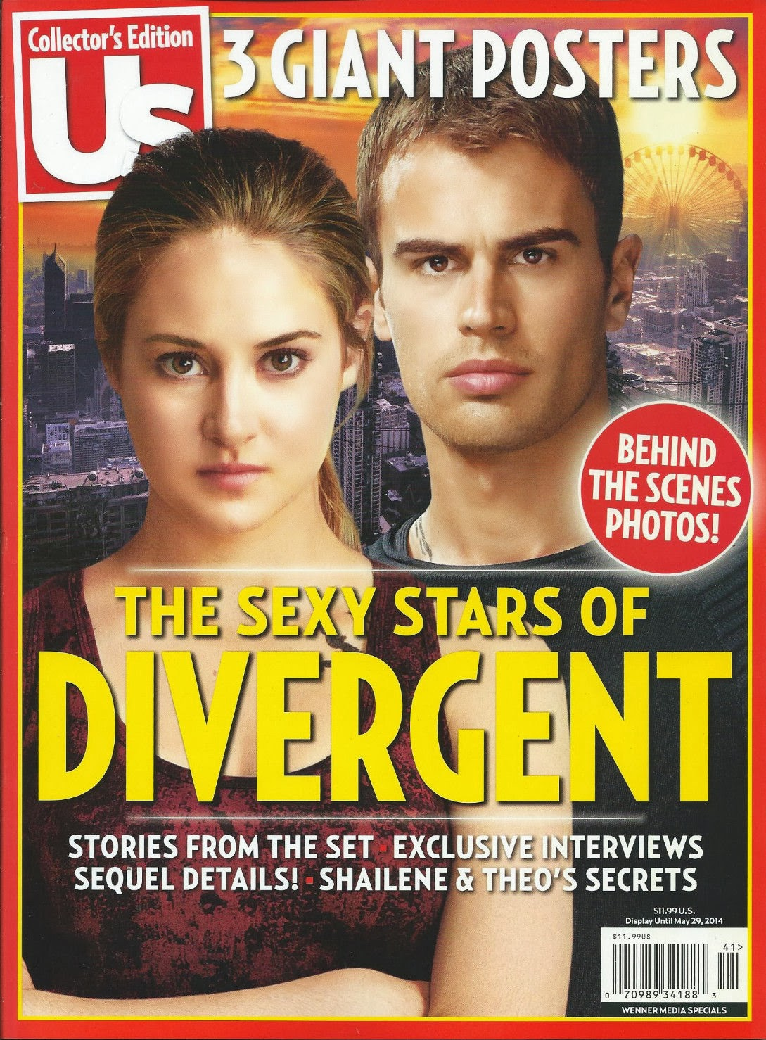 The Sexy Stars of Divergent US Cover