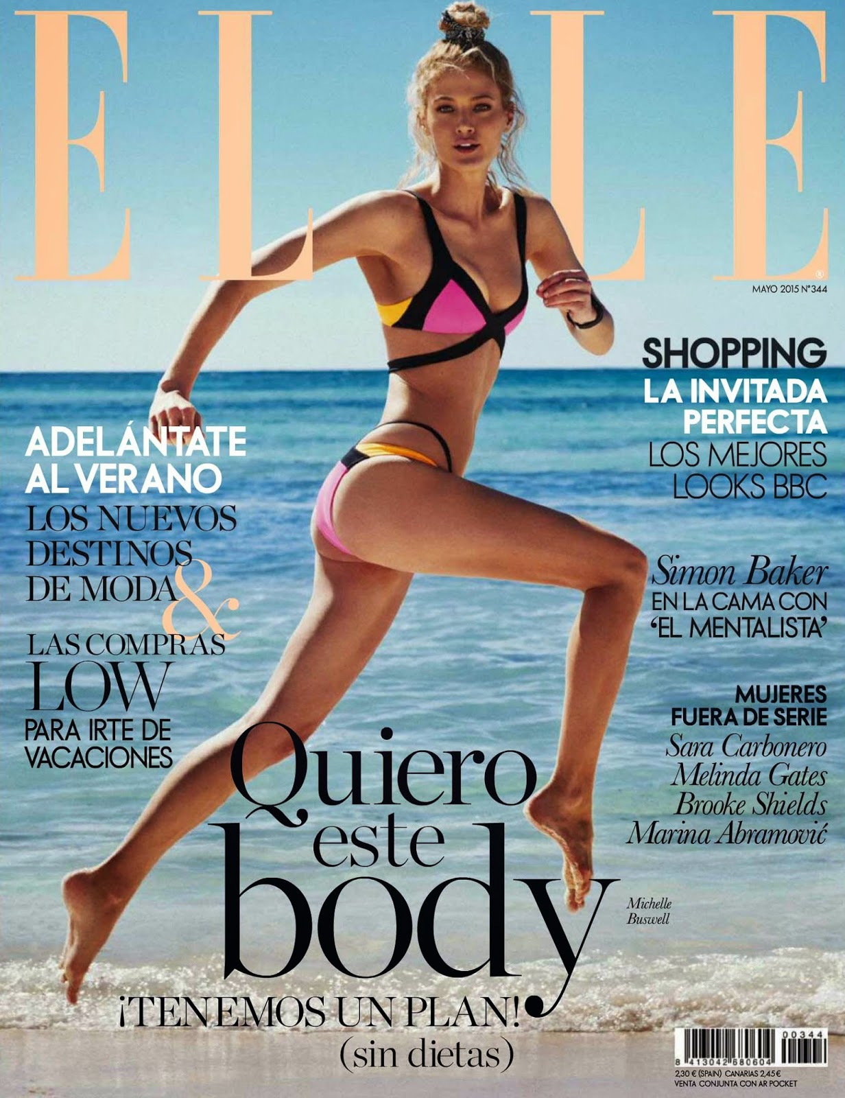 Model @ Michelle Buswell by Xavi Gordo for Elle Spain, May 2015