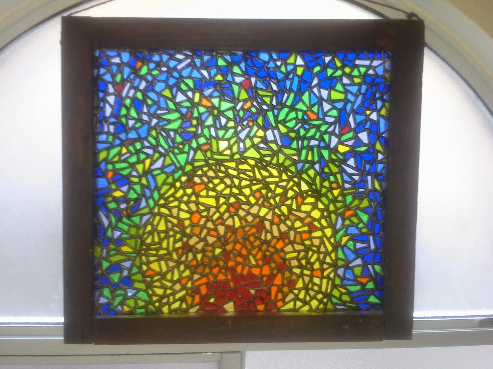 stained glass art i decided to boldly go where no one has gone created this unusual stained glass piece