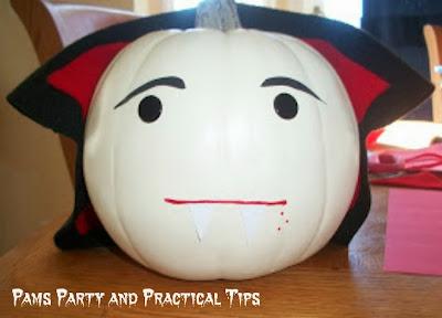How to make a Vampire Pumpkin #pumpkin