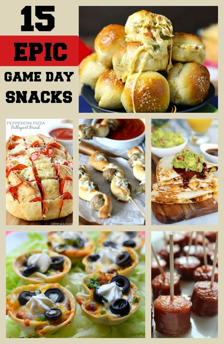 15 Epic Game Day Snacks -- Perfect for Any Party!