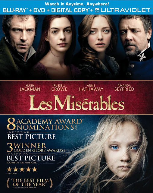 Les Miserables, 2012, Film, DVD, BD, Blu-ray, Combo, Extras, Bonus, Box Art, Cover, Image
